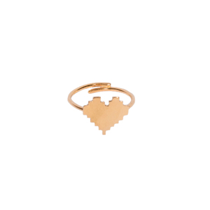 """Pixel heart"" II Gold"