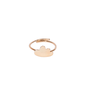 """ Dream on "" II goldplated ring"