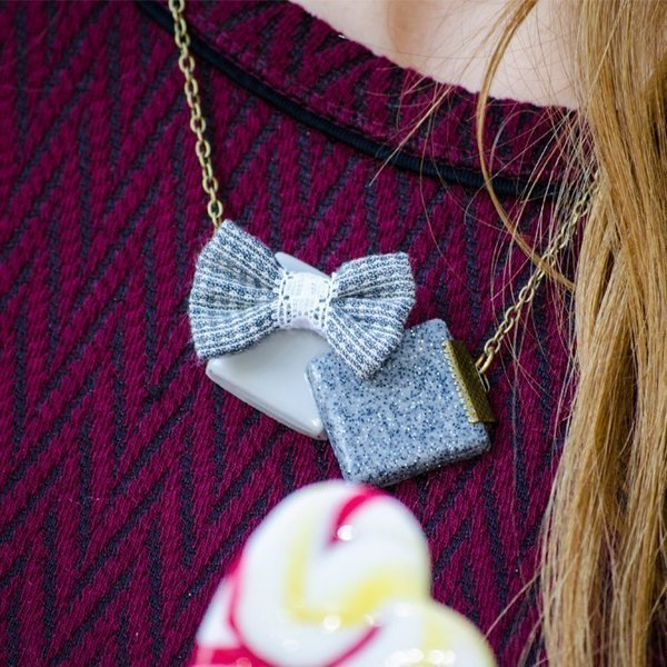 Square Bow Necklace
