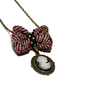 Black Cameo Necklace