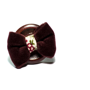 Bordeaux Velvet Ring