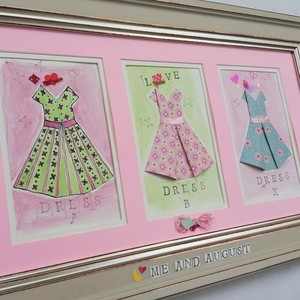 "κάδρο ""three vintage dresses"" rose"