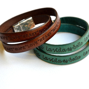 Handmade leather bracelets