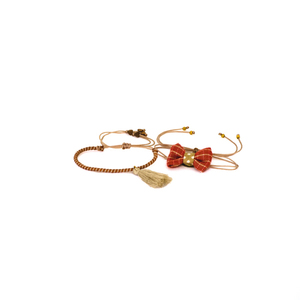 Bow Bracelets Set Red