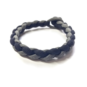 4-Strand Braid Black n' Grey