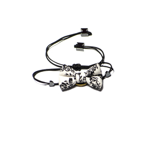 Black Rose Bow Bracelet
