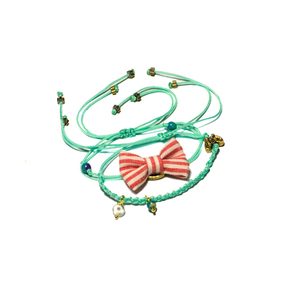 Bow Bracelets Set Watermelon