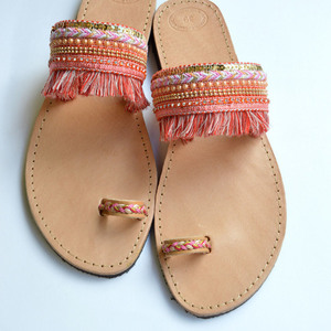 Handmade Sandals Coral Luxury