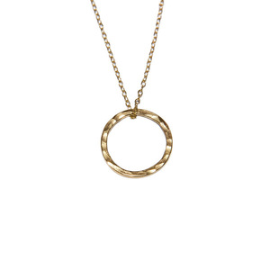 Ring necklace II goldplated