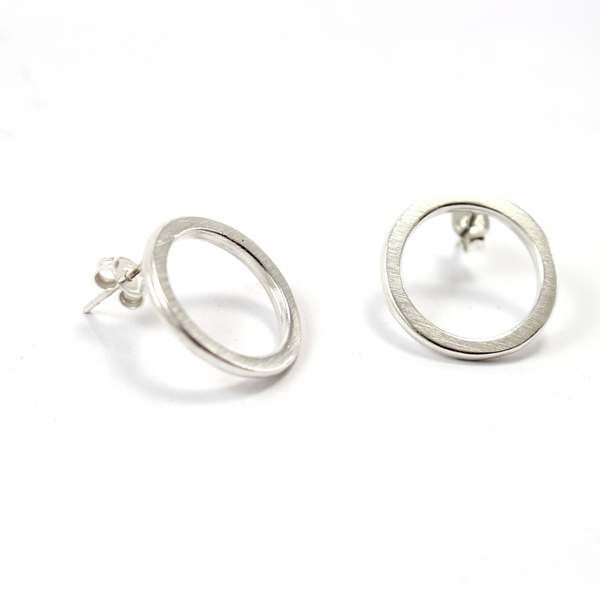 "Silver ""ring earrings"""