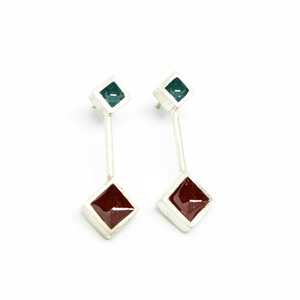 """Colors & Shapes"" II earrings silver"