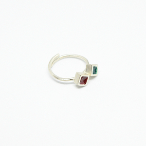 """Colors & Shapes"" II ring silver"
