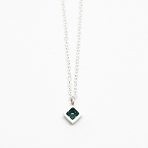 """Diamond"" II necklace silver"