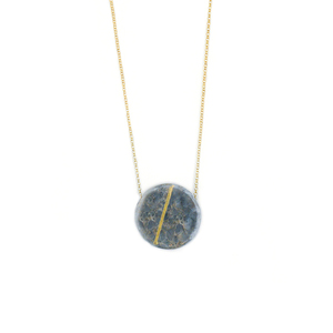 """A p o l l o n i a n "" Circle Marble Necklace 925"