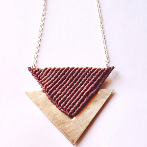 """triangle"" necklace"