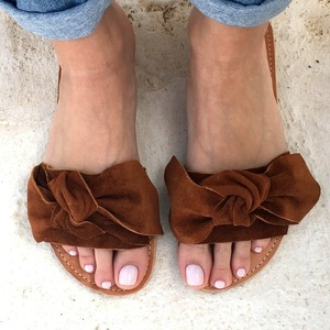 knot sandals brown