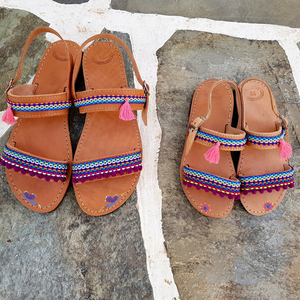 Mother and daughter boho sandals