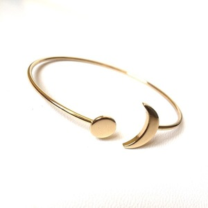 Moonlight metal bangle