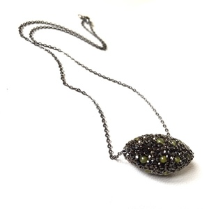 Marcasite short necklace