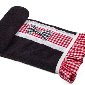 Gingham in red beach towel
