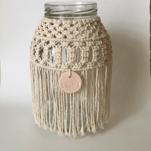 Medusa macrame hurricane jar - boho decor - boho chic - homedecor
