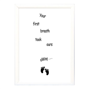 "Poster σε κάδρο ""Your first breath"" - μεγάλο-"