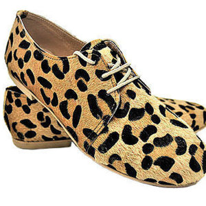 MARGO SHOES Oxfords Leopard Eco Ponyskin