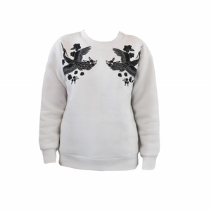 WHITE CRANE SWEATSHIRT