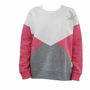 PINK COLOUR BLOCK SWEATSHIRT