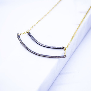 """Black n' Gold'' necklace"