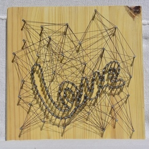 Πίνακας-String Art - lOVE
