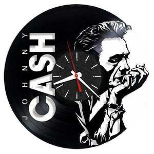 Johnny Cash singer vinyl record wall clock