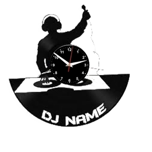 DJ (Name) Vinyl Records Wall Clock