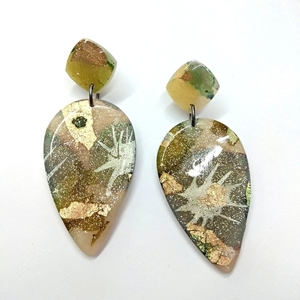 Olive ink series earrings