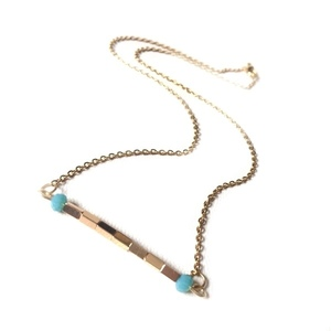 Gold hematite short necklace