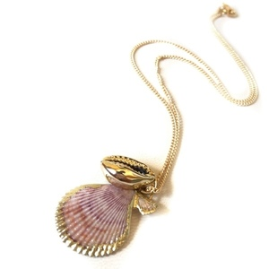 Gold plated seashell necklace