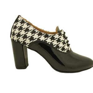 MARGO SHOES Oxfords Λουστρίνι Black & White