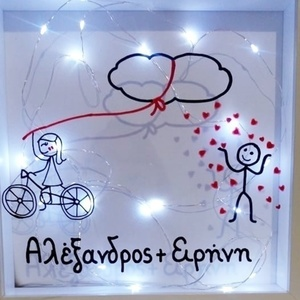 "Custom Made 3d Frame with light ""...rain of LOVE"""