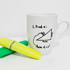 "Ηandpainted mug ""Find ....x"""