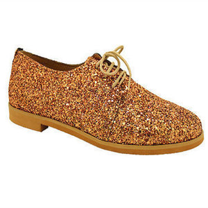 "MARGO SHOES Oxfords ""GLITTER DROPS""Μπρονζέ"