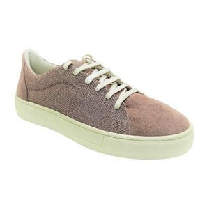 MARGO SHOES Sneakers Δέρμα Καστόρι & Ύφασμα SHINY NUDE
