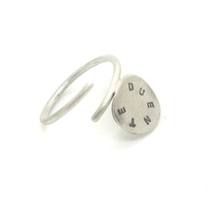 Personalized Eco Silver Ring | Write your own message