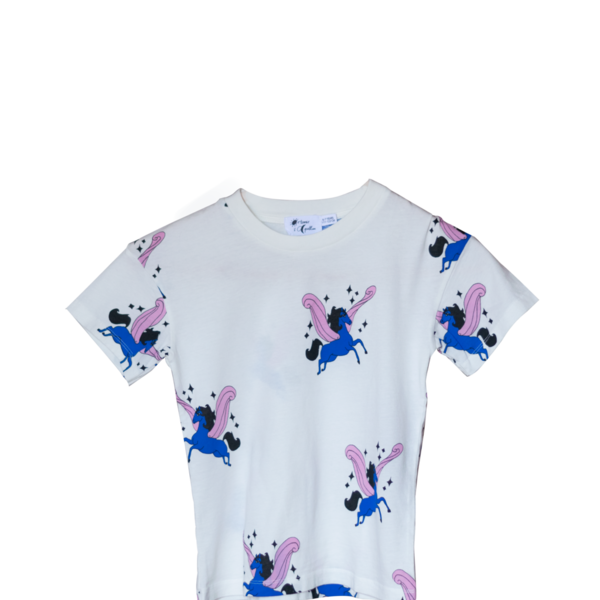 All Over Pegasus Blue T-Shirt