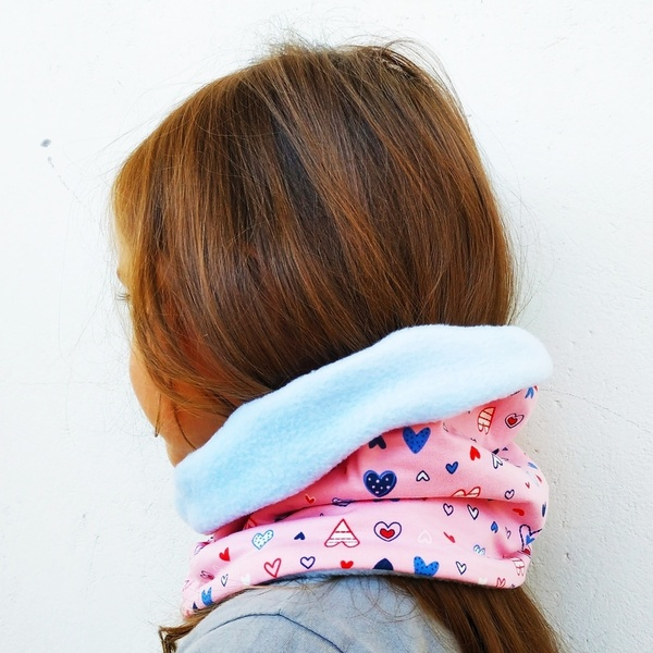 Neck warmer / παιδικός λαιμός HEARTS