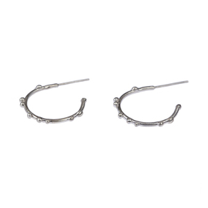 _dots silver hoops - ασημένια κρικάκια