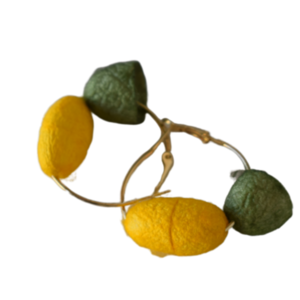 Yellow & green silk cocoons