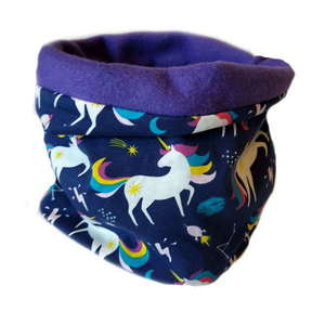 Neck warmer / παιδικός λαιμός UNICORN PURPLE FLEECE