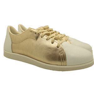 MARGO SHOES Plus Size Sneakers Δέρμα Χρυσό