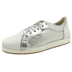 MARGO SHOES Plus Size Sneakers Δέρμα Ασημί