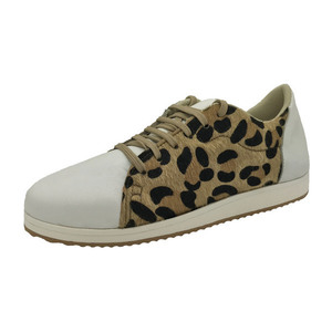 MARGO SHOES Plus Size Sneakers Δέρμα Λευκό & Λεοπάρ ECO PONY SKIN